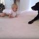 【わんこ動画】初対面!赤ちゃんと犬のはじめましての瞬間がかわいい♡